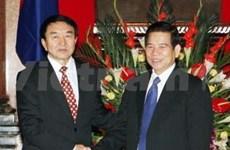 我国领导会见蒙古国会主席