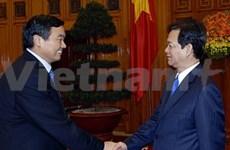 阮晋勇总理会见中国交通银行行长胡怀邦