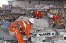 中国发生5.8级地震后越南领导致电慰问