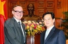 阮晋勇总理会见世行代表和比利时驻越大使
