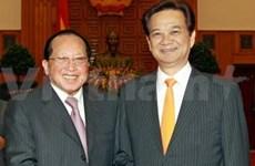 越柬加强合作关系