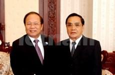 越南文化体育旅游部高级代表团访问老挝