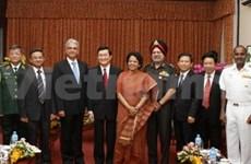 国家主席张晋创会见印度国防部副部长
