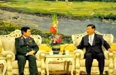 越南人民军总政治局高级代表团拜会中国国家副主席习近平