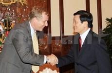 我国领导会见国际货币基金会驻越南首席代表