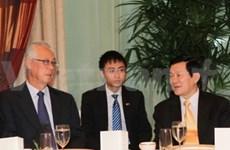 越南国家主席圆满结束对新加坡的访问
