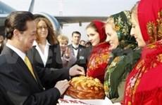 政府总理阮晋勇对乌克兰进行正式访问