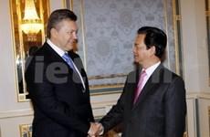 越南和乌克兰领导一致同意加强双方合作关系