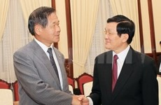 国家主席张晋创接见日本大阪工商业联合会主席佐藤