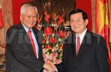国家主席张晋创接见菲律宾外交部长