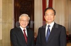 阮富仲总书记会见中国总理温家宝和政协主席贾庆林