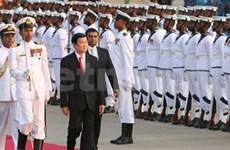 越南国家主席张晋创对斯里兰卡进行国事访问