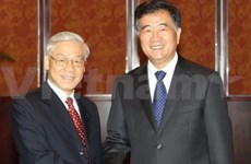 越共中央总书记阮富仲探访中国广东省