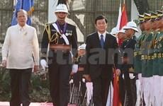 国家主席张晋创与菲律宾总统进行会谈