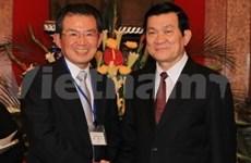 国家主席张晋创会见日本关西经济联合会代表团
