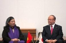 越南与日本加强国会女议员的交流
