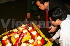 广治省举行月度放花灯仪式