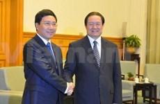越南外交部长范平明会见中国高级领导