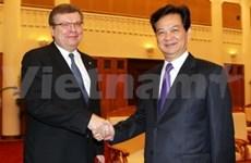 越南政府总理阮晋勇会见乌克兰外长格里先科