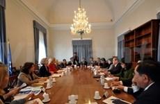 越共中央民运部代表团访问意大利