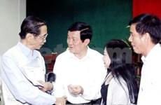 越南国家主席张晋创接触胡志明市第一郡选民