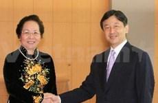 越南国家副主席阮氏缘会见日本皇太子