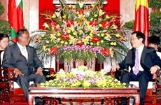 越南国家主席张晋创会见缅甸上议院议长