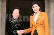 越南国家副主席阮氏缘与泰国总理举行会谈