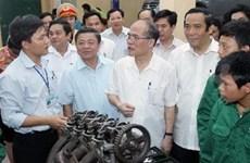越南国会主席阮生雄与河静省羽光县选民见面