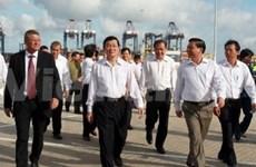越南国家主席张晋创在巴地头顿省视察调研