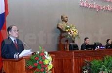 越南国会主席阮生雄出席老挝第七届国会第三次会议
