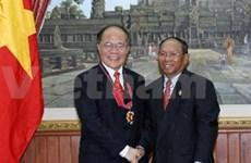 柬埔寨王国国会主席韩桑林对越南进行正式友好访问