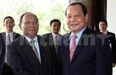 胡志明市领导会见柬埔寨国会主席