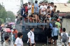 菲律宾首都马尼拉多地洪水泛滥