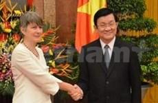 越南国家主席接受各国新任驻越大使国书