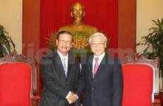 越共中央总书记会见老挝政府代表团