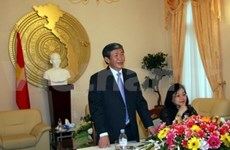 越南共产党工作代表团访问德国
