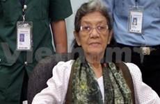 柬埔寨法院特别法庭宣布释放红色高棉领导人英蒂迪