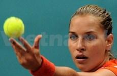 齐布尔科娃女子职业网球运动员提早赴越参赛