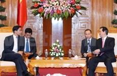 越南政府总理会见德国经济部长