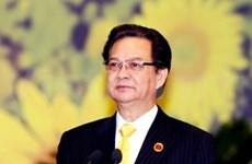 阮晋勇总理离开河内赴华出席CAEXPO暨CABIS开幕式