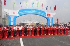 河内市三环梅驿-灵谭湖北岸高架桥路段正式通车