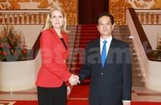 丹麦首相对越南进行正式访问
