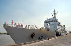 印度巡逻舰访问胡志明市和巴地头顿省