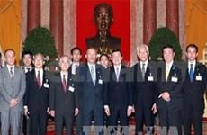张晋创主席会见日本民间外交协会代表团