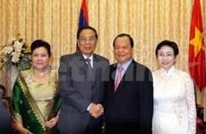 老挝人民革命党总书记朱马利访问胡志明市