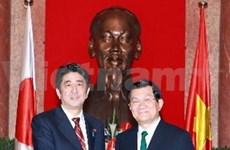 越南国家主席张晋创会见日本首相
