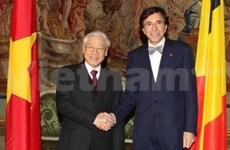 越共中央总书记阮富仲与比利时王国首相举行会谈