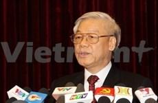 越共中央总书记阮富仲:越南全党全军全民坚持信心