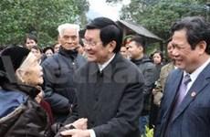越南国家主席张晋创莅临宣光省考察
